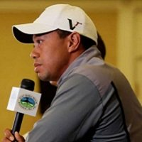 Tiger Woods at press conference