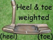 heel and toe weighted putter