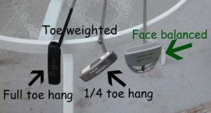 face balanced and toe balance putters