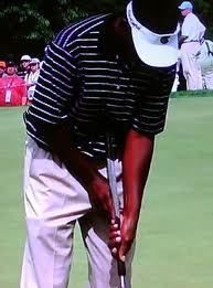 Vijay Singh with belly putter