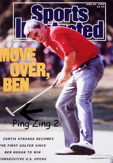 Curtis Strange used a Ping Zing 2 to win back-to-back US Opens